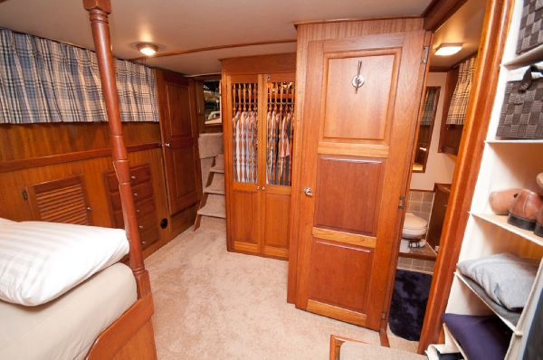 Master stateroom and head