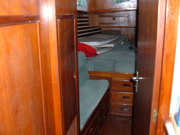looking into aft stateroom