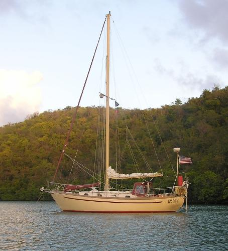 Brewer Jason 35 Cutter At anchor USVI