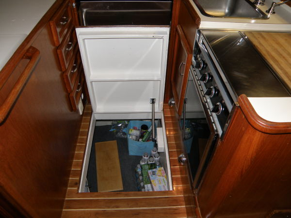 basement storage in galley