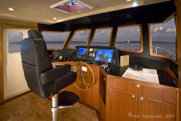 Northwest Trawlers 45 Pilothouse Helm