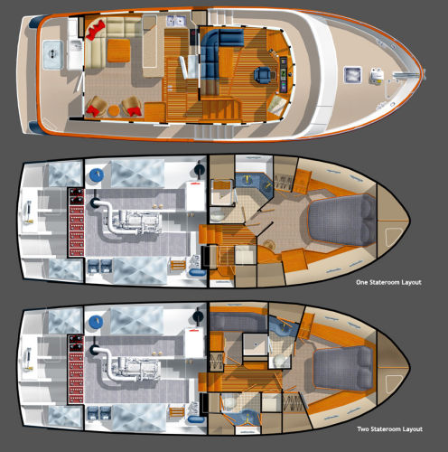 Northwest Trawlers 45 Interior Layout