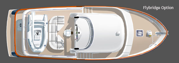 Northwest Trawlers 45 Optional Flybridge Rendering