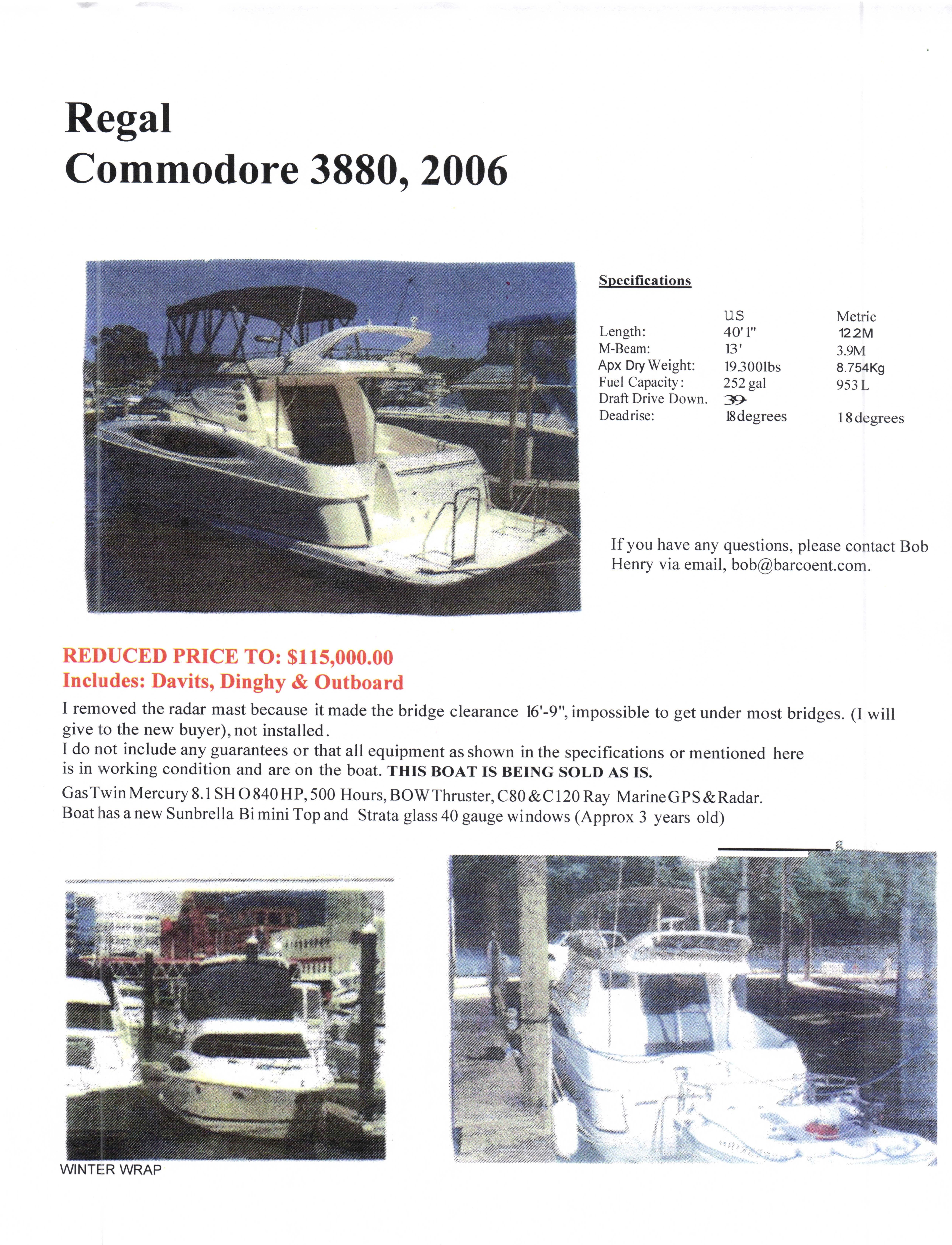 Regal Commodore 3880
