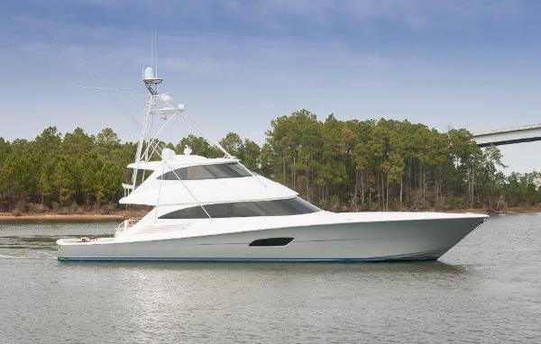Viking 92 Enclosed Bridge Convertible Starboard Profile
