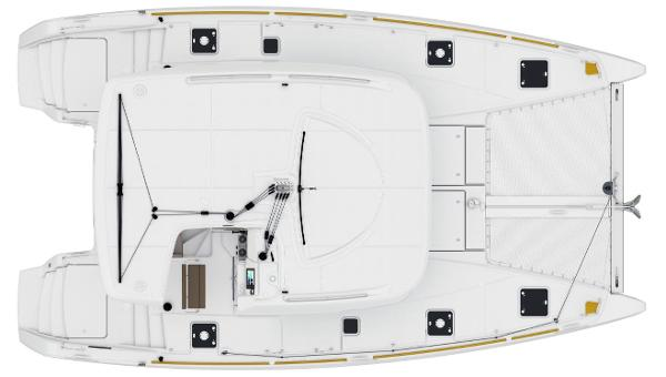 Lagoon 39 Manufacturer Provided Image: Lagoon 39 Upper Deck Layout Plan