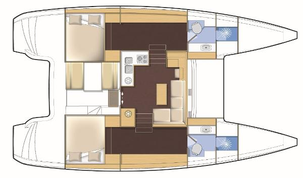 Lagoon 39 2 Cabin Layout Plan