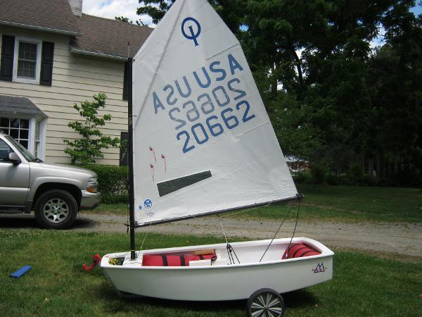 Opti  Race boat