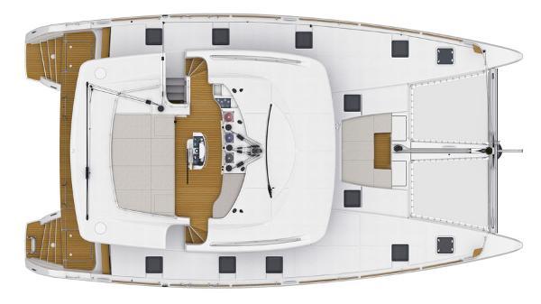 Lagoon 52 Deck Layout Plan