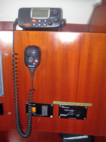 VHF and Fridge controls