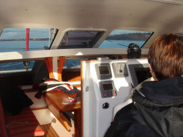 view from steering station