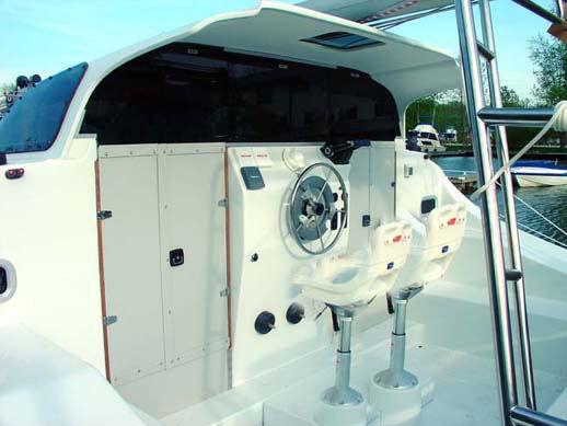 protected steering station