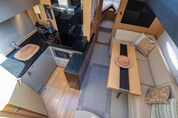 Princess V52 - Dinette & Galley
