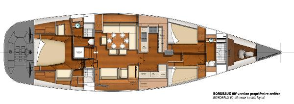 CNB BORDEAUX 60 Owner's Cabin Layout Plan