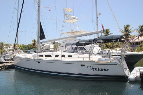 Hunter 49 Dockside at Nanny Cay