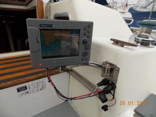 Plotter mounts in cockpit