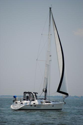 Hunter 450 Passage Under sail