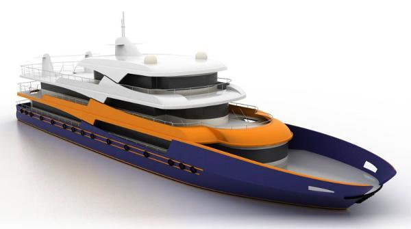 Passenger Vessel Project Side view