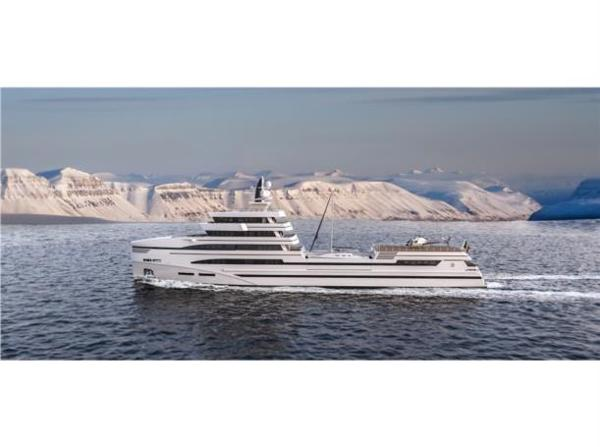 Rosetti Superyachts 85m Spadolini Helipad Supply Vessel
