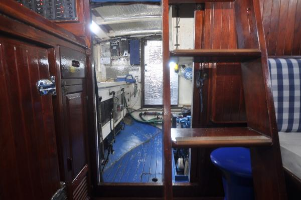 Companionway and engine room