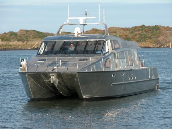 Nic de Waal Foil Assisted catamaran