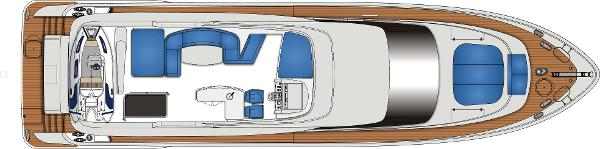Monte Fino 76 Fly Flybridge Layout Plan