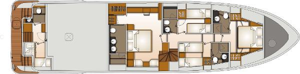 Monte Fino 76 Fly Lower Deck Layout Plan