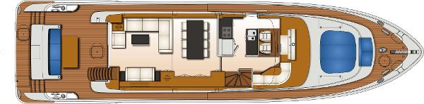 Monte Fino 76 Fly Upper Deck Layout Plan