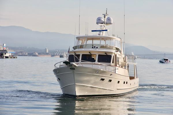 Fleming 65 Pilothouse Approaching