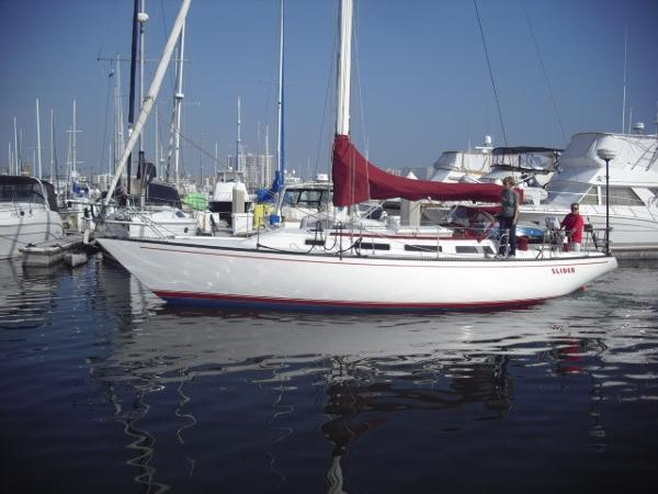 "Catalina 38 ""Slider"" port side view 1"