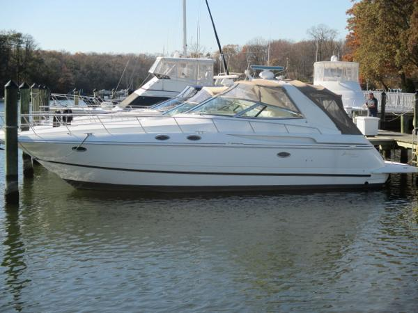 Cruisers Yachts 3870 Express Port View At Dock
