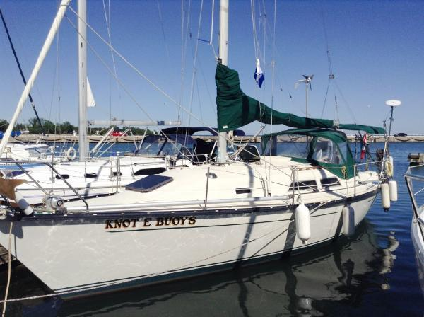 Mirage 33 Sloop At Dock