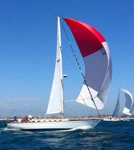 Lyman Morse Seguin 46 Racing off Newport Beach - May 2015