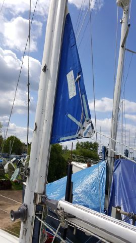 In mast reefing. 2015 new standing rigging.