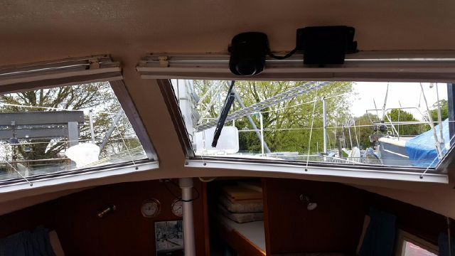 Screen wiper at helm position.