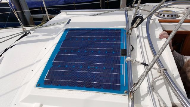 Solar panel additional charging.