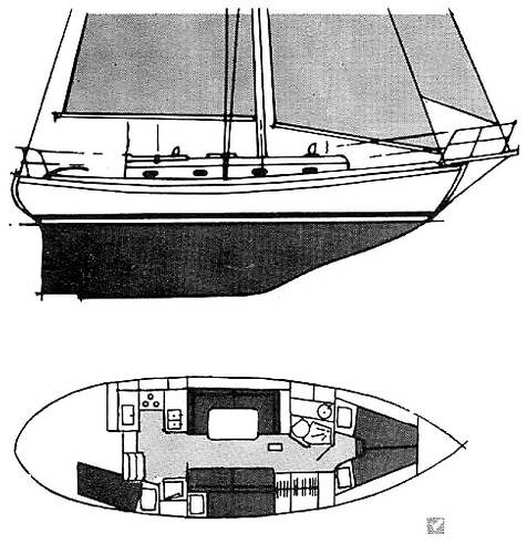 hull and interior schematics