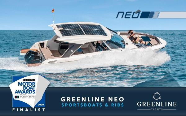 Greenline NEO Coupe Finalist in the 2020 Motor Boat Awards