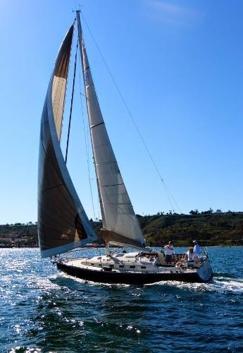 Main and screacher sails