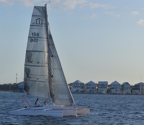 Corsair Sprint 750 MK II sailing with main and jib