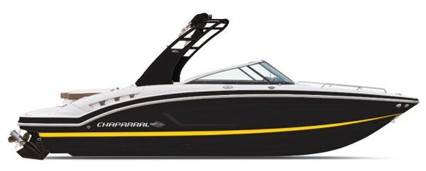 Chaparral 227 SSX ON ORDER - BLACK WITH YELLOW STRIPE