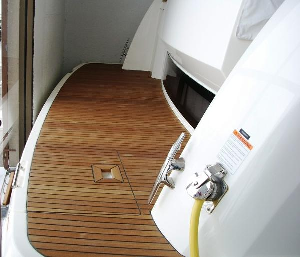 Real Wood Swim Platform and Cockpit Deck