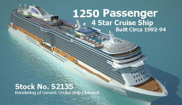 Cruise Ship, 1,250 Passengers Stock No. S2135