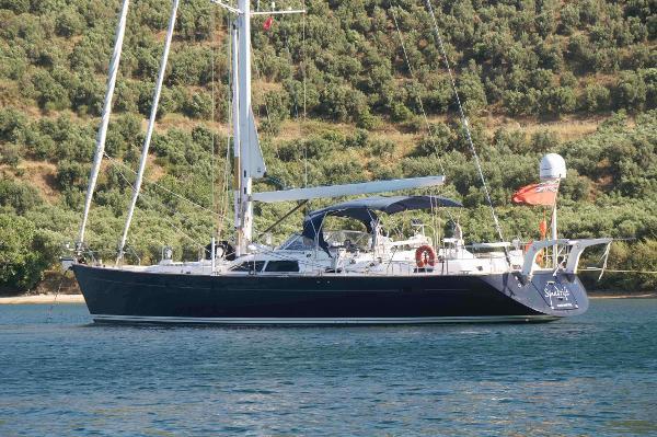 Moody 64 at anchor