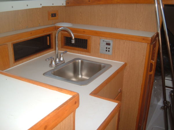 new galley sink and plumbing