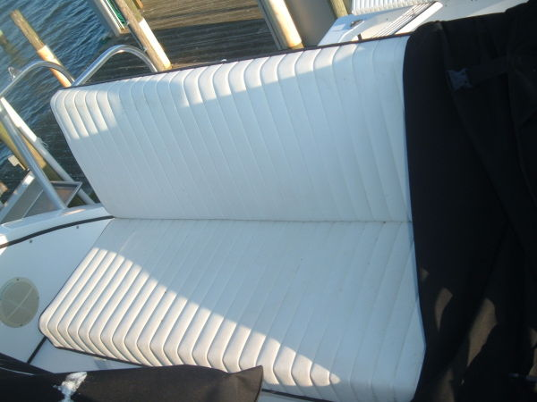 new helm seat upholstery, with storage cover