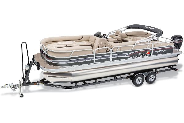 Sun Tracker Party Barge 24 DLX w/ 150ELPT 4Stroke and Trailer