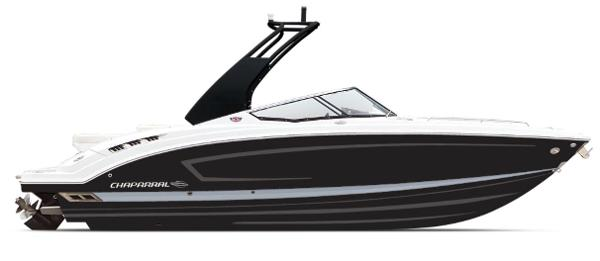 Chaparral 277 SSX ON ORDER - BLACK WITH SILVER STRIPE