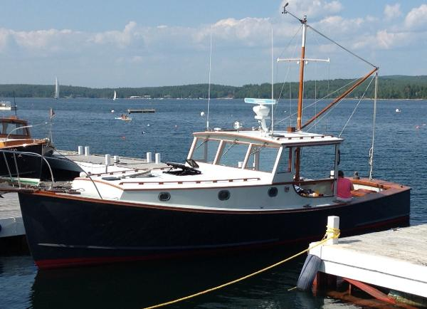 Stanley  Williams Lobster-style Yacht In Her Slip