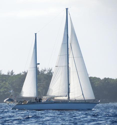 Amel Super Maramu Under sail